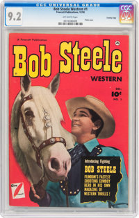 Bob Steele Western #1 Crowley Copy pedigree (Fawcett Publications, 1950) CGC NM- 9.2 Off-white pages