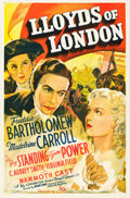 "Movie Posters:Drama, Lloyds of London (20th Century Fox, 1936). One Sheet (27"" X 41"")....."