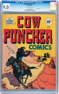 Golden Age (1938-1955):Western, Cow Puncher Comics #1 (Avon, 1947) CGC VF/NM 9.0 Off-whitepages....