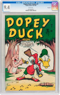 Golden Age (1938-1955):Funny Animal, Dopey Duck Comics #1 Vancouver pedigree (Timely, 1945) CGC NM 9.4White pages....