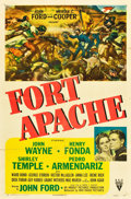 """Movie Posters:Western, Fort Apache (RKO, 1948). One Sheet (27"""" X 41"""").. ..."""