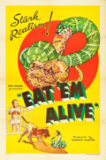 """Movie Posters:Documentary, Eat 'Em Alive (Principle Pictures, 1933). One Sheet (27"""" X 41"""").. ..."""