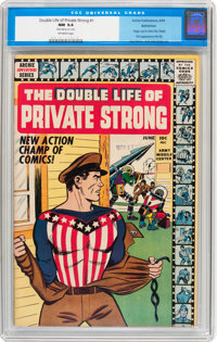 The Double Life of Private Strong #1 Bethlehem pedigree (Archie, 1959) CGC NM 9.4 Off-white pages