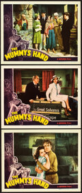 "Movie Posters:Horror, The Mummy's Hand (Universal, 1940). Lobby Cards (3) (11"" X 14"")..... (Total: 3 Items)"