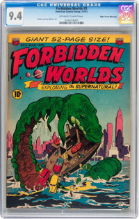 Forbidden Worlds #5 Mile High pedigree (ACG, 1952) CGC NM 9.4 Off-white to white pages