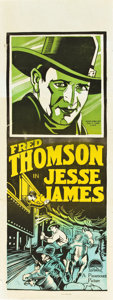 "Movie Posters:Western, Jesse James (Paramount, 1927). Pre-War Australian Daybill (15"" X 40"").. ..."