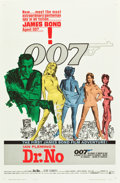 "Movie Posters:James Bond, Dr. No (United Artists, 1962). Flat Folded One Sheet (27"" X 41"")White Smoke Style.. ..."