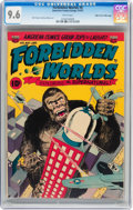 Golden Age (1938-1955):Horror, Forbidden Worlds #6 Mile High pedigree (ACG, 1952) CGC NM+ 9.6White pages....