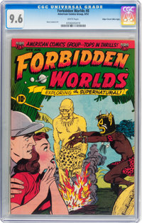 Forbidden Worlds #8 Mile High pedigree (ACG, 1952) CGC NM+ 9.6 White pages
