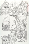 Original Comic Art:Panel Pages, George Perez Unpublished JLA/Avengers Special Kang PencilPage 6 Original Art (Marvel/DC, c. 1979-83)....