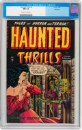 Golden Age (1938-1955):Horror, Haunted Thrills #4 Bethlehem pedigree (Farrell, 1952) CGC NM 9.4Off-white to white pages....