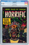 Golden Age (1938-1955):Horror, Horrific #6 (Comic Media, 1953) CGC VF/NM 9.0 Cream to off-whitepages....