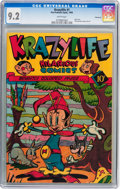 Golden Age (1938-1955):Funny Animal, Krazylife #1 Vancouver pedigree (Fox, 1945) CGC NM- 9.2 Whitepages....
