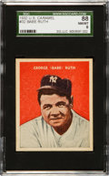 Baseball Cards:Singles (1930-1939), 1932 U.S. Caramel Babe Ruth #32 SGC 88 NM/MT 8 - One of Two WithNone Higher! ...