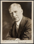 Baseball Collectibles:Photos, Connie Mack Signed Photograph....