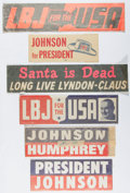 Books:Americana & American History, Group of Lyndon B. Johnson Political Campaign Stickers. Duplicatesof several. All unused and in very good or better conditi...