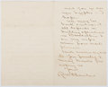 Autographs:Authors, Robert W. Chambers (1865-1933, American Writer). Autograph Letter Signed. Author of The King in Yellow. Very good....