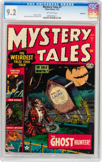 Mystery Tales #7 Bethlehem pedigree (Atlas, 1953) CGC NM- 9.2 Off-white pages