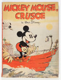 Platinum Age (1897-1937):Miscellaneous, Mickey Mouse, Crusoe Paperback Storybook (Whitman, 1936) Condition: FN....