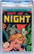 Golden Age (1938-1955):Horror, Out of the Night #2 Mile High pedigree (ACG, 1952) CGC NM- 9.2Off-white to white pages....