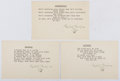 Autographs:Authors, Gelett Burgess (1866-1951, American Writer and Humorist). Typed Poems Signed. Very good....