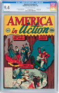 Golden Age (1938-1955):Non-Fiction, America in Action #1 Vancouver pedigree (Dell, 1945) CGC NM 9.4Off-white to white pages....