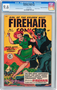 Firehair Comics #1 Mile High pedigree (Fiction House, 1948) CGC NM+ 9.6 White pages
