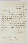 Autographs:Authors, Thomas Crofton Croker (1798-1854, Irish Author). Autograph Letter Signed. Mounted on paper. Very good....