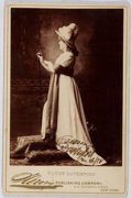 Autographs:Celebrities, Fanny Davenport (1850-1898, American Stage Actress). Autograph Cabinet Card. Very good....
