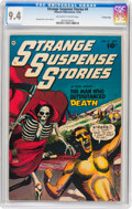 Golden Age (1938-1955):Horror, Strange Suspense Stories #4 Crowley Copy pedigree (FawcettPublications, 1952) CGC NM 9.4 Off-white to white pages....