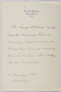 Autographs:Authors, George William Curtis (1824-1892, American Writer). AutographLetter Signed. Very good....