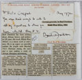 Autographs:Authors, Basil Davidson (1914-2010, British Historian and Africanist).Clipped Signature. Very good....