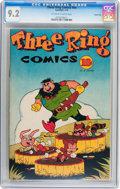Golden Age (1938-1955):Funny Animal, Three Ring Comics #1 Carson City pedigree (Spotlight, 1945) CGC NM-9.2 Off-white to white pages....