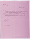 Autographs:Authors, John Irving (1942- , American Writer). Typed Letter Signed. Includes envelope. Very good....