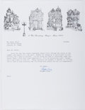 Autographs:Authors, Stephen King (1947- , American Horror Writer). Typed Letter Signed.Envelope included. Very good....