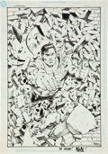Original Comic Art:Splash Pages, Nelson DeCastro Superman Pin-Up Illustration Original Art(undated)....