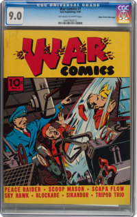 War Comics #1 (Dell, 1940) CGC VF/NM 9.0 Mile High pedigree