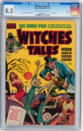 Golden Age (1938-1955):Horror, Witches Tales #1 File Copy (Harvey, 1951) CGC VF+ 8.5 Cream tooff-white pages....