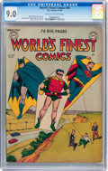 Golden Age (1938-1955):Superhero, World's Finest Comics #46 (DC, 1950) CGC VF/NM 9.0 Cream to off-white pages....