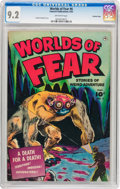Golden Age (1938-1955):Horror, Worlds of Fear #6 Crowley Copy pedigree (Fawcett Publications,1952) CGC NM- 9.2 Off-white pages....