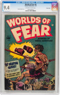 Golden Age (1938-1955):Horror, Worlds of Fear #8 Crowley Copy pedigree (Fawcett Publications,1953) CGC NM 9.4 Off-white to white pages....
