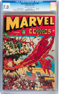 Marvel Mystery Comics #48 (Timely, 1943) CGC FN/VF 7.0 Off-white to white pages