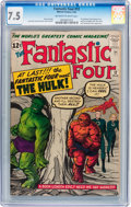 Fantastic Four #12 (Marvel, 1963) CGC VF- 7.5 Off-white to white pages