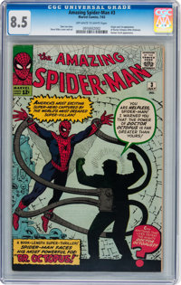 The Amazing Spider-Man #3 (Marvel, 1963) CGC VF+ 8.5 Off-white to white pages