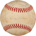 Baseball Collectibles:Balls, 1972 Pittsburgh Pirates Team Signed Baseball (26 Signatures) - With Clemente!...