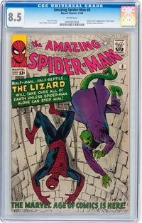 The Amazing Spider-Man #6 (Marvel, 1963) CGC VF+ 8.5 White pages