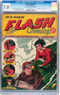 Golden Age (1938-1955):Superhero, Flash Comics #3 (DC, 1940) CGC FN/VF 7.0 Cream to off-whitepages....