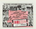 "Movie Posters:Rock and Roll, The T.A.M.I. Show (American International, 1964). Half Sheet (22"" X28""). Rock and Roll.. ..."
