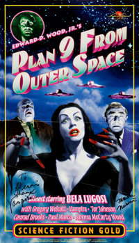 Plan Nine From Outer Space Poster Signed by Vampira (Englewood Entertainment, 1998)
