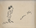 Original Comic Art:Sketches, William Steig Signed Little Girl Sketch Original Art (undated)....